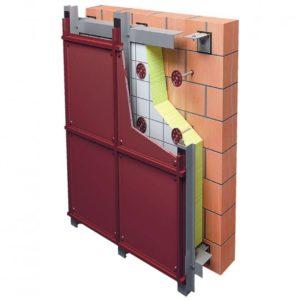 Горизонтально-вертикальная система вентилируемого фасада из оцинкованной стали