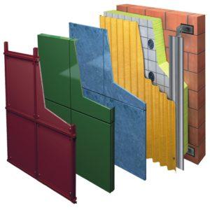 Вертикальная подсистема навесного вентилируемого фасада из оцинкованной стали
