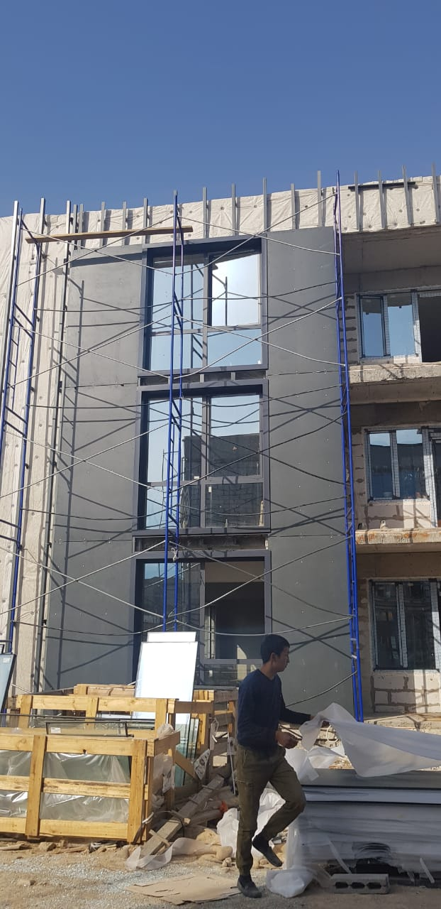 Жилой дом, Алма-Ата, облицовка ФЦП СДС-КОЛОР